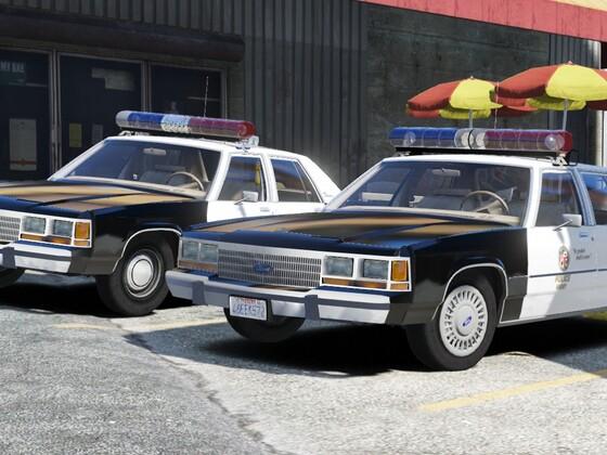 1988 & 1990 Ford LTD Crown Victoria P72- Los Angeles Police Dept.