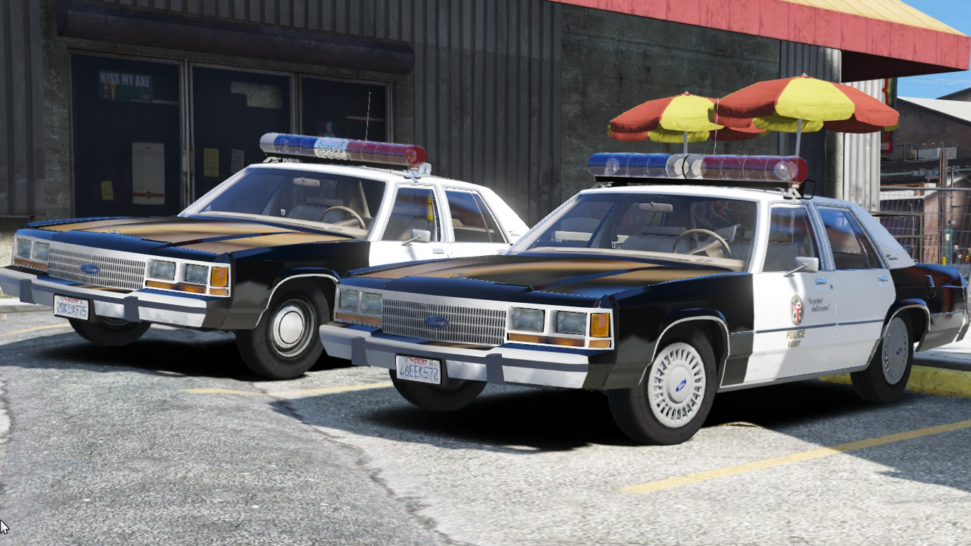 1988 & 1990 Ford LTD Crown Victoria P72- Los Angeles Police Dept.