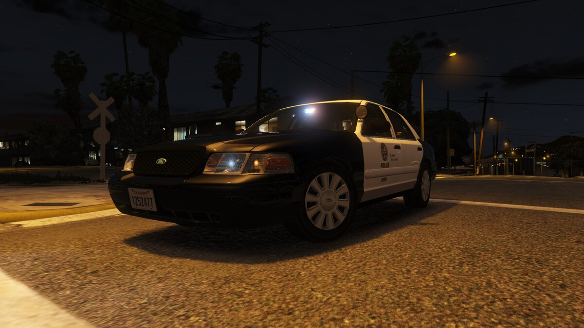 Los Angeles Slicktop Crown Victoria Gang Unit