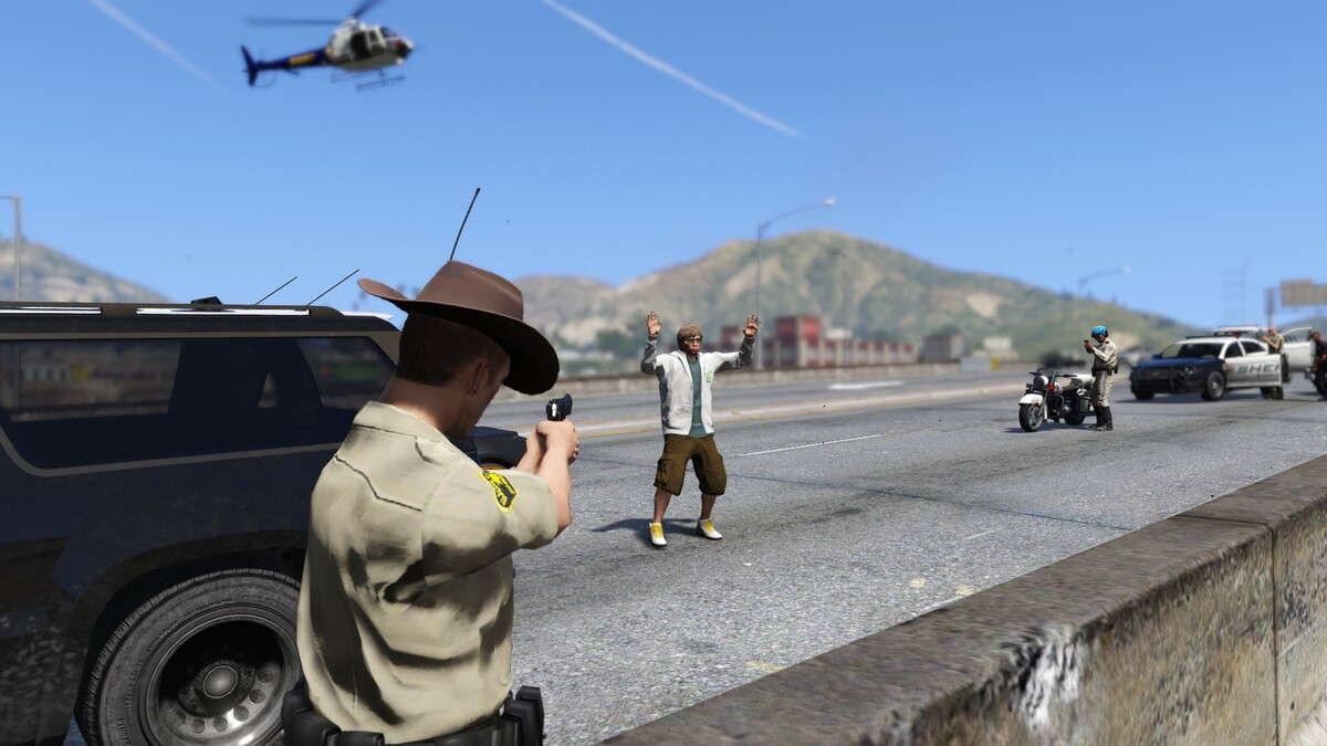 Pursuit through LS and Blaine County