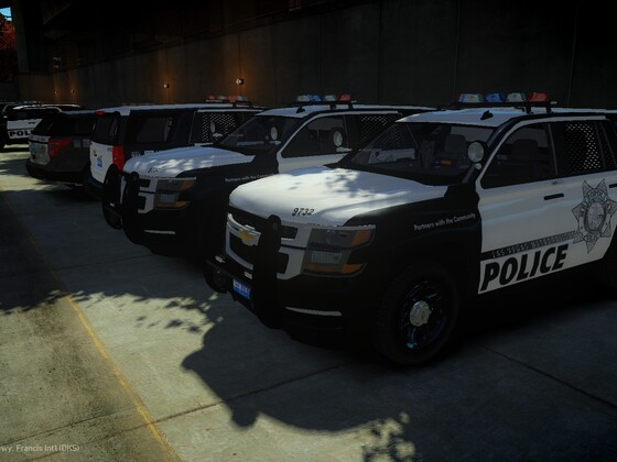 Three New Las Vegas Police K9 2015 Chevy Tahoes