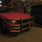 thunderstruck dodge charger pursuit tvi grille guard 2015
